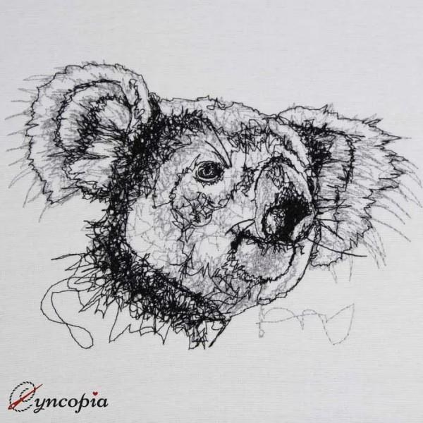 Embroidery Design Koala scribble