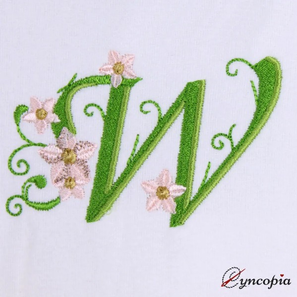 Embroidery Design Marguerites Alphabeth W