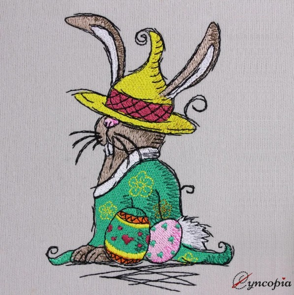 Embroidery Design Easter Bunny Gnome