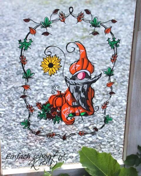 Plotterdatei Herbst Gnom Sonnenblume Danke Doris