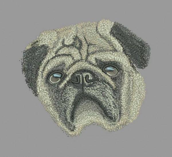 Embroidery Design Pug Calli