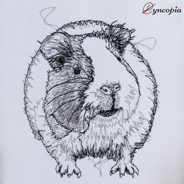 Embroidery Design Guinea Pig scribble