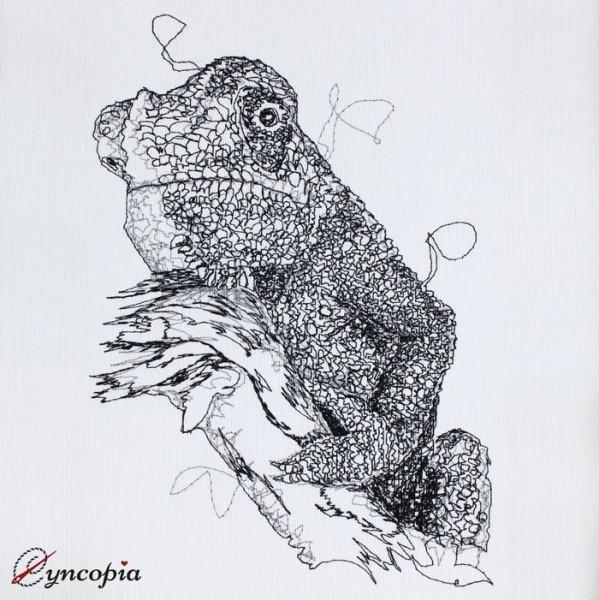 Embroidery Design Chamäleon scribble