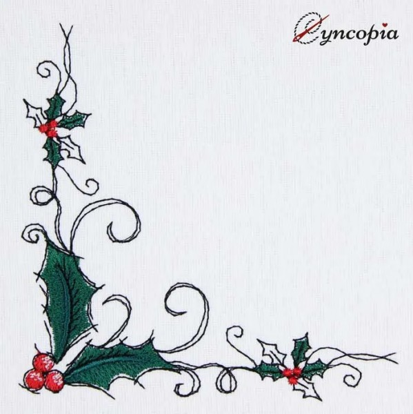 Embroidery Design Holly Corner