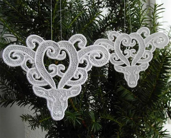 Embroidery Design Deer Lace