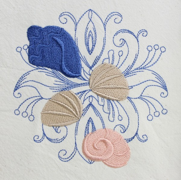 Embroidery Design Shells Baroque
