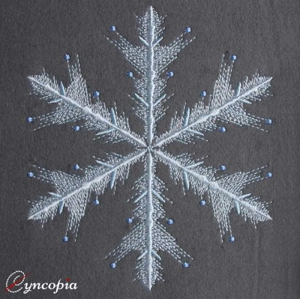 Embroidery Design Snowflake Tordens