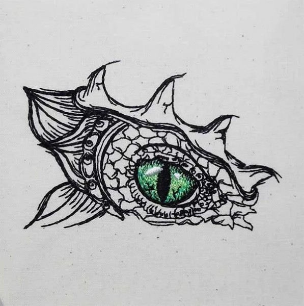 Embroidery Design Dragon Eye