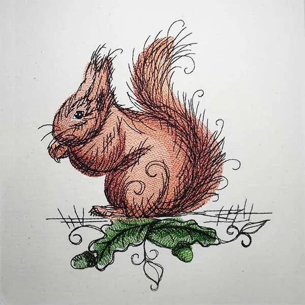 Stickdatei Eichhörnchen Romantic
