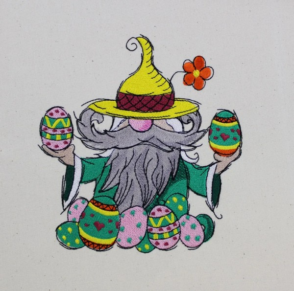 Embroidery Design Easter Gnome