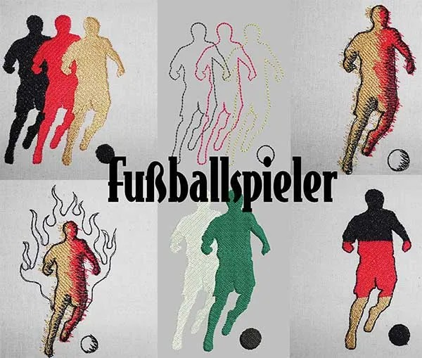 Embroidery Design Soccer Player Set