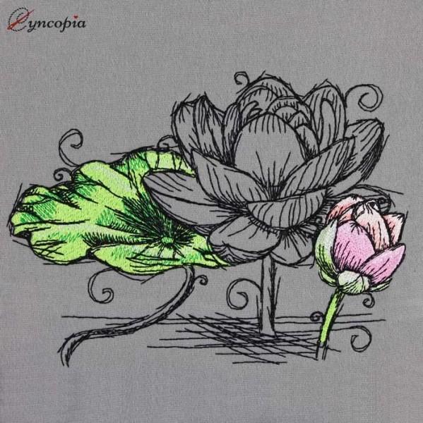 Stickdatei Lotusblüte No 3