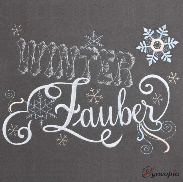 Embroidery Design Winterzauber Lettering