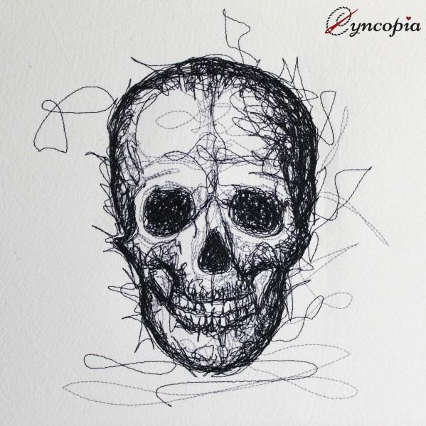 Embroidery Design Skull scribble