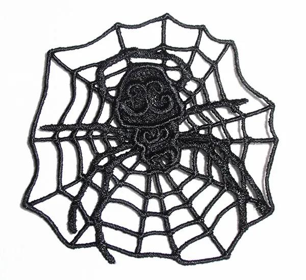 Stickdatei Spinne im Netz Lacé (FSL)