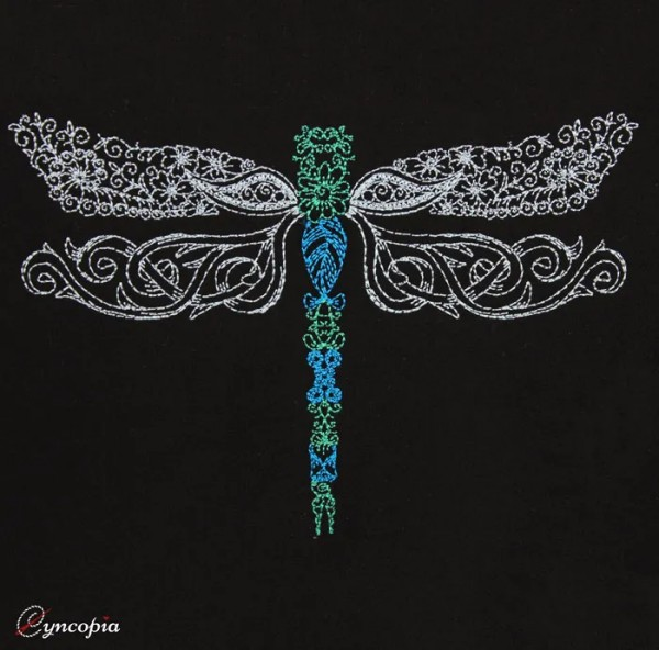 Embroidery Design Dragonfly Zendoodle