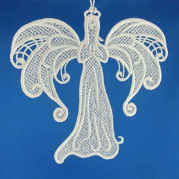 Embroidery Design Angel Romantic Lace