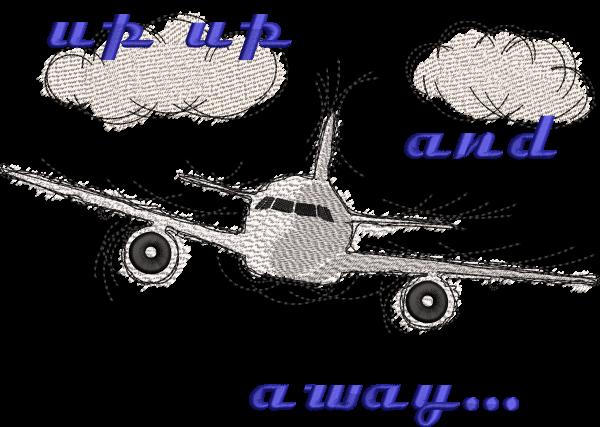 Stickdatei Flugzeug Fly away