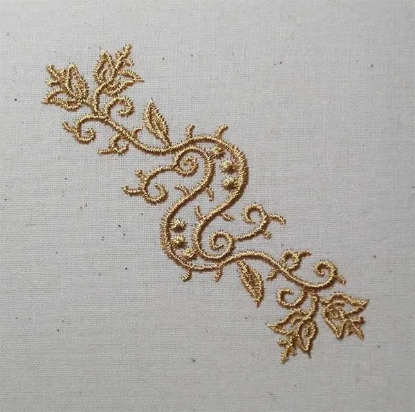 Embroidery Design 1 Fine Ornament