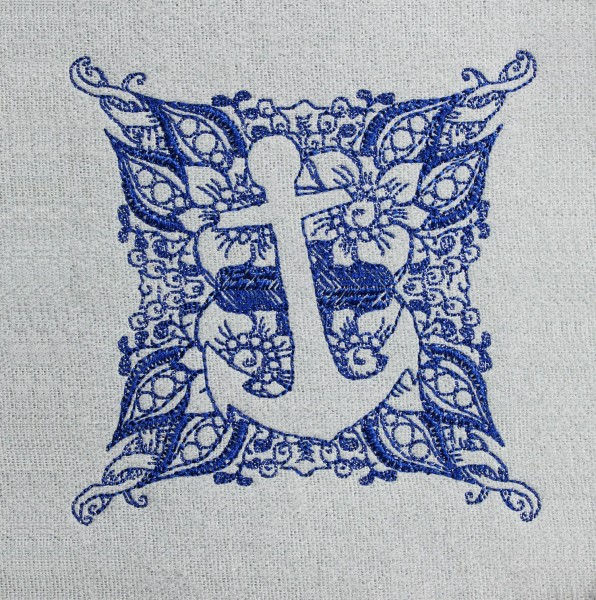 Embroidery Design Anchor small Invers Zendoodle
