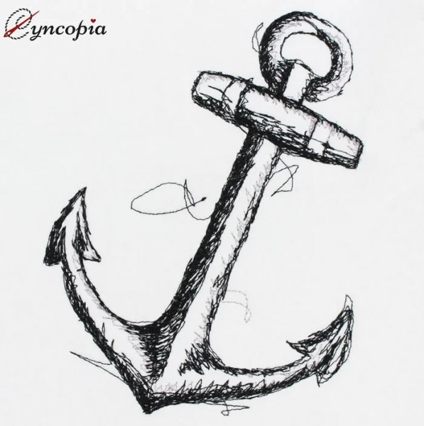 Embroidery Design Anchor scribble