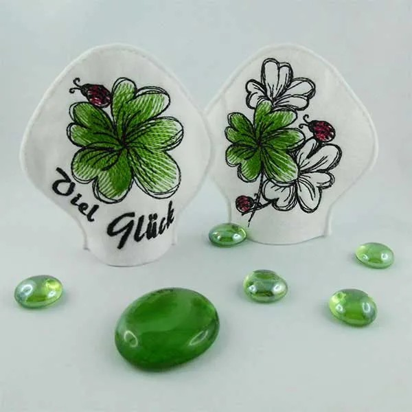 Embroidery Design Lucky Clover LED Cover ITH