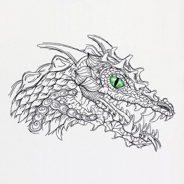 Embroidery Design Dragon Head