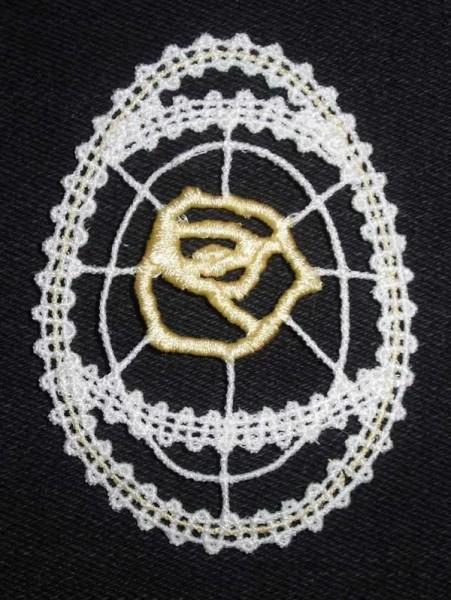 Embroidery Design Easteregg Battenberg Lace