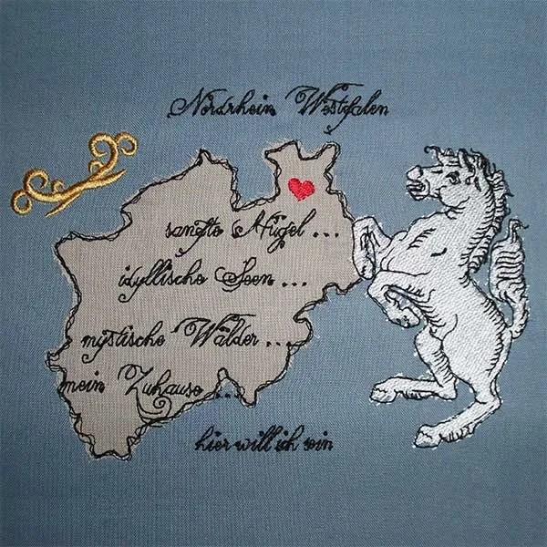 Stickdatei Nordrhein Westfalen Doodle