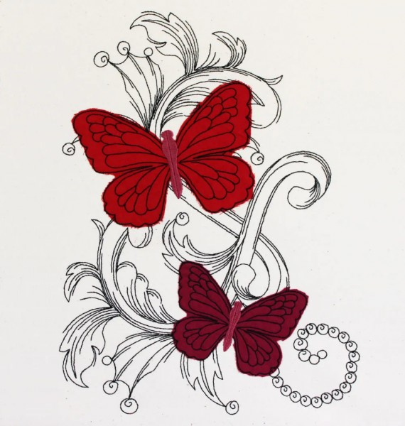 Embroidery Design Butterfly Dream Doodle