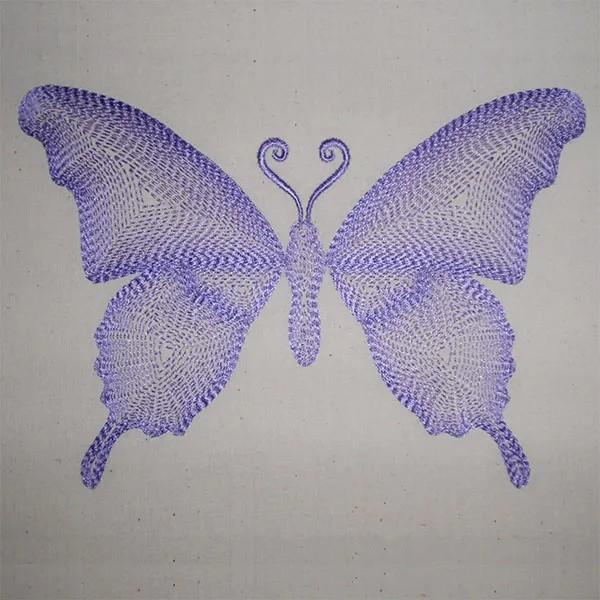 Fichier Broderie Papillon Graphique
