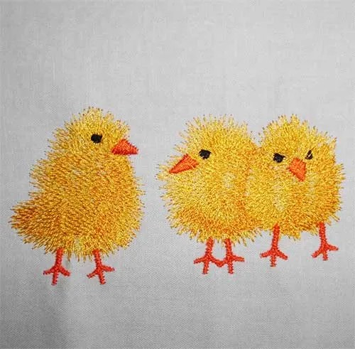 Embroidery Design Chicks
