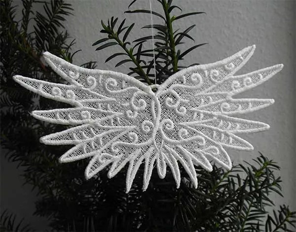 Embroidery Design Angelwings Lace
