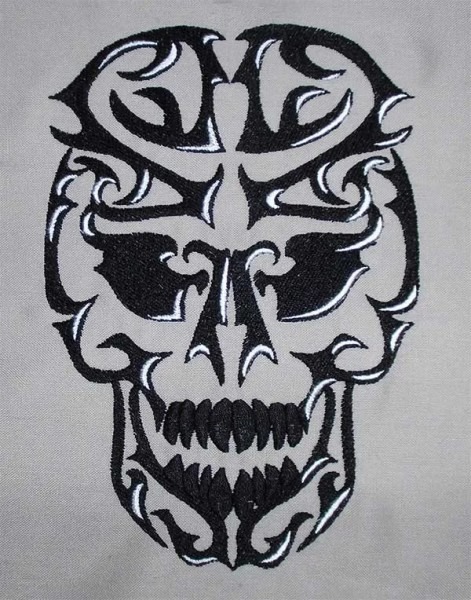 Embroidery Design Tribal Skull