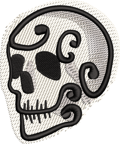 Embroidery Design Mini Skull