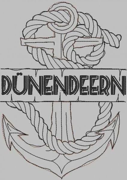 Stickdatei Dünendeern Doodle