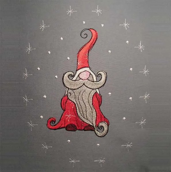 Embroidery Design Christmas Gnome