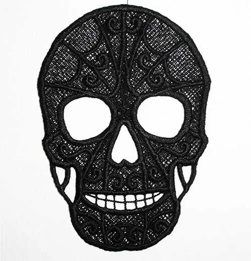 Embroidery Design Skull Lace
