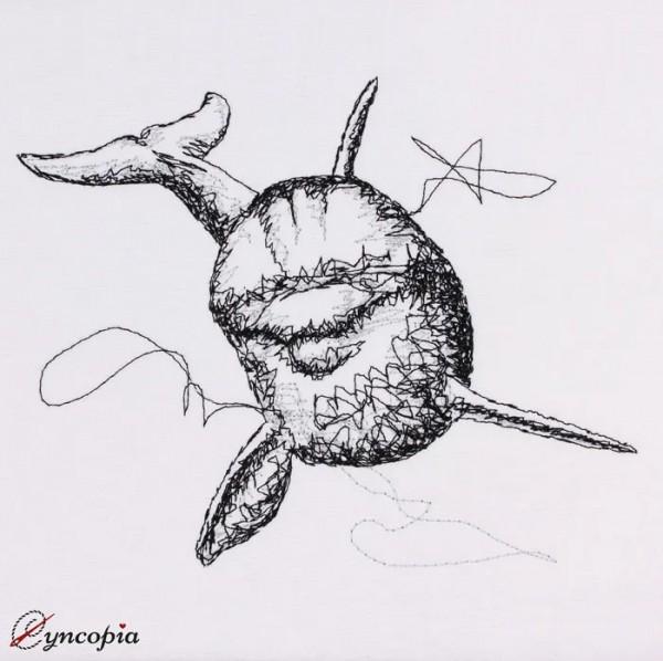 Stickdatei Delfin Front scribble