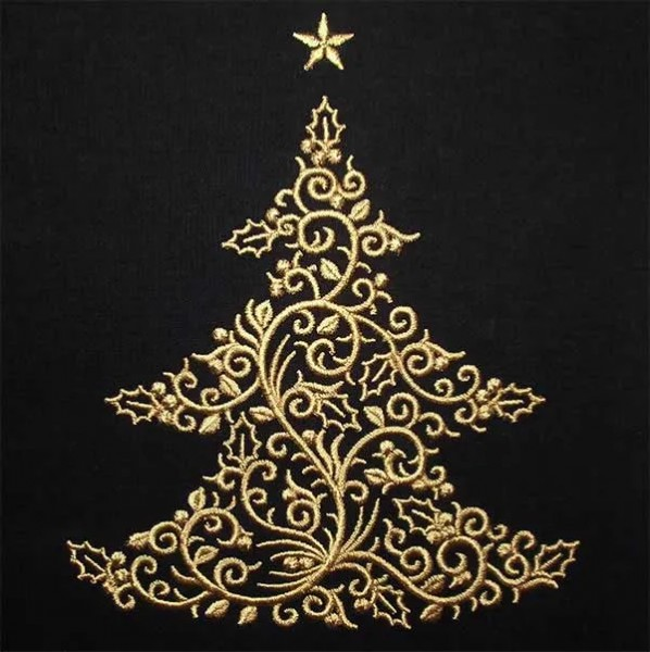 Embroidery Design X-Mas Tree Ornament