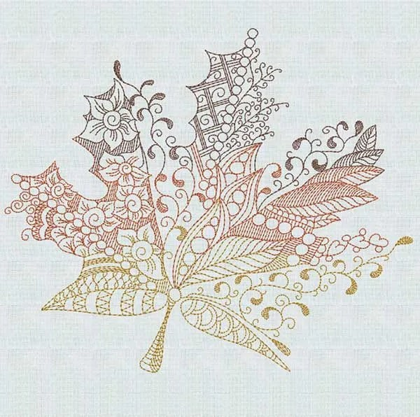 Maple Leaf Zendoodle