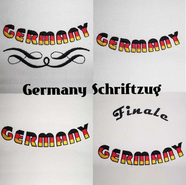 Embroidery Design Lettering Germany Set